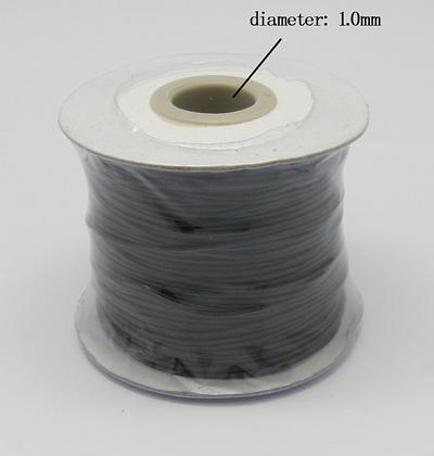 PandaHall_Korean_Wax_Polyester_Cord_Black_1mm_about_100yardsroll_Waxed_Polyester_Cord_Black