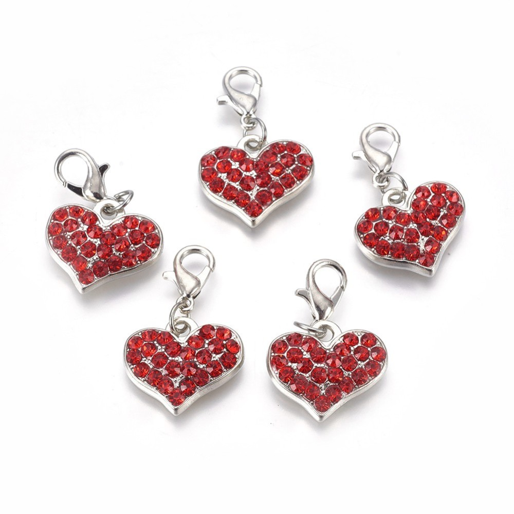 PandaHall_Alloy_Rhinestone_Pendants_Grade_A_with_Lobster_Clasp_Heart_Platinum_Metal_Color_Light_Siam_30x18x4mm_AlloyRhinestone_Heart