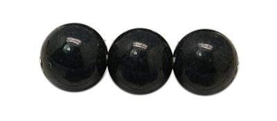 PandaHall Natural Mashan Jade Beads Strands, Dyed, Round, Black, 8mm, Hole: 1mm; about 50pcs/strand, 16