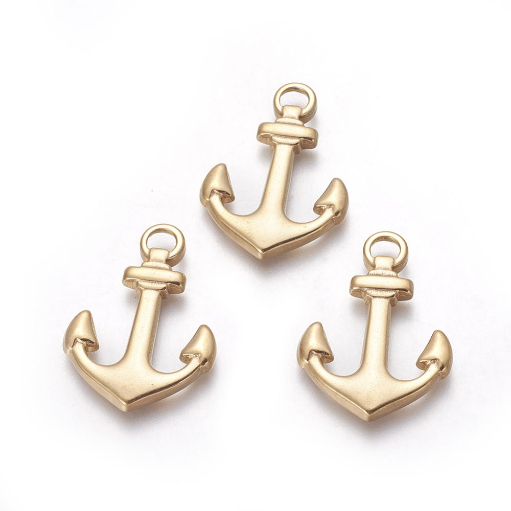 PandaHall_Vacuum_Plating_304_Stainless_Steel_Pendants_Anchor_Golden_305x215x25mm_Hole_35mm_Stainless_Steel_Anchor_&_Helm