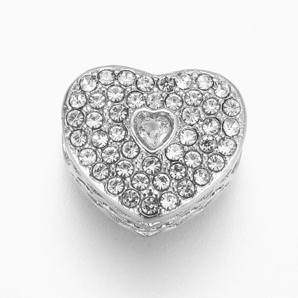 PandaHall_304_Stainless_Steel_European_Beads_Large_Hole_Beads_with_Rhinestone_Heart_Stainless_Steel_Color_Crystal_10x11x7mm_Hole_4mm