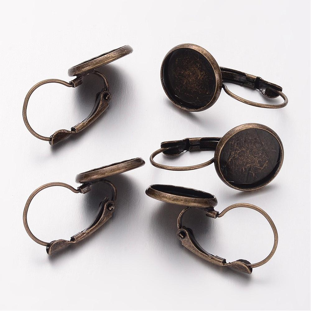PandaHall_Brass_Leverback_Earring_Findings_Lead_Free_Cadmium_Free_and_Nickel_Free_Antique_Bronze_Size_about_14mm_wide_25mm_long_12mm