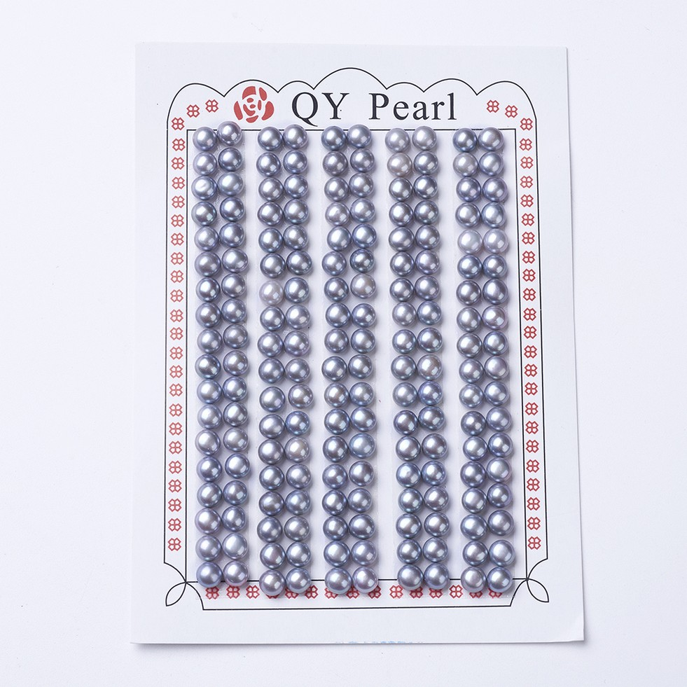 PandaHall_Natural_Pearl_Beads_Half_Drilled_Round_SlateBlue_45~5x4mm_Hole_1mm_Pearl_Round_Blue