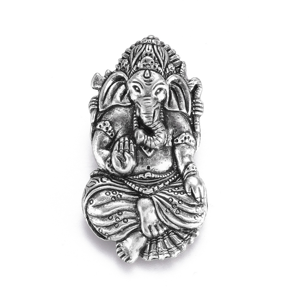 PandaHall_Tibetan_Style_Alloy_Pendants_Hindu_Elephant_God_Lord_Ganesh_Statue_Lead_Free_&_Nickel_Free_&_Cadmium_Free_Thai_Sterling_Silver