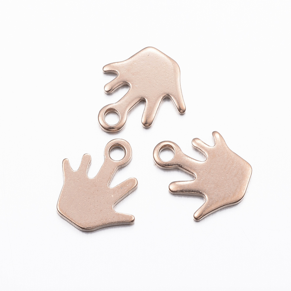 PandaHall_304_Stainless_Steel_Charms_Palm_Rose_Gold_Furnace_Electroplating_105x10x1mm_Hole_15mm_Stainless_Steel_Palm