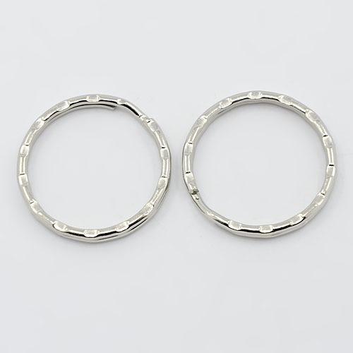 PandaHall_Iron_Key_Clasp_Findings_Ring_Silver_25x15mm_Iron_Ring