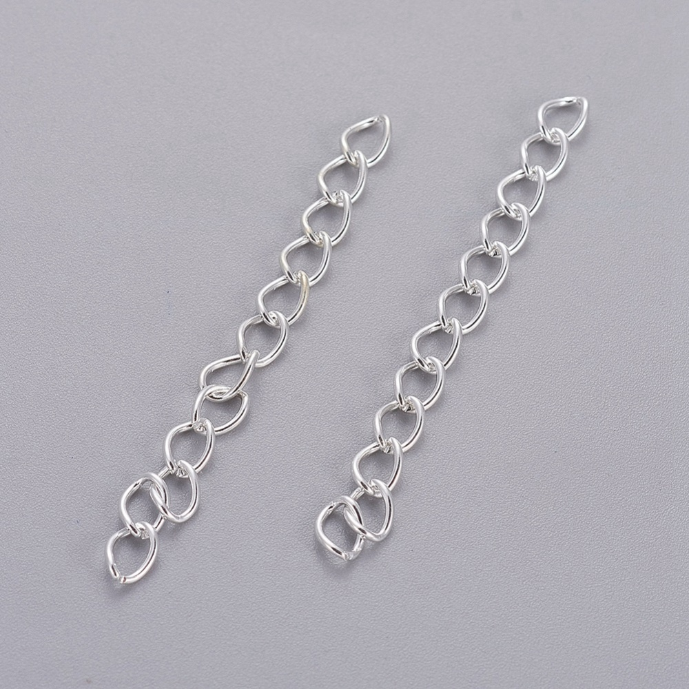 PandaHall_Iron_Ends_with_Twist_Extender_Chains_Silver_50x35mm_Iron