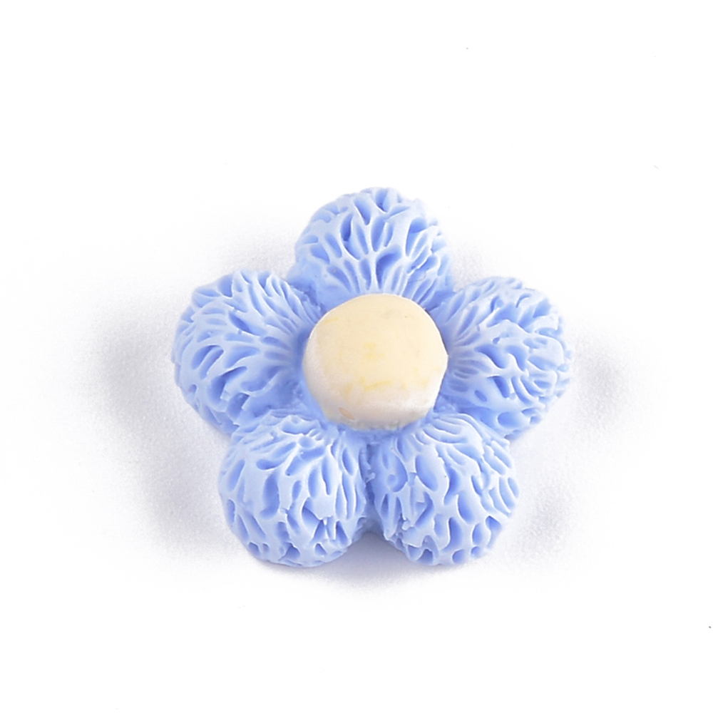 PandaHall_Resin_Cabochons_Flower_CornflowerBlue_19x19x9mm_Resin_Flower_Blue