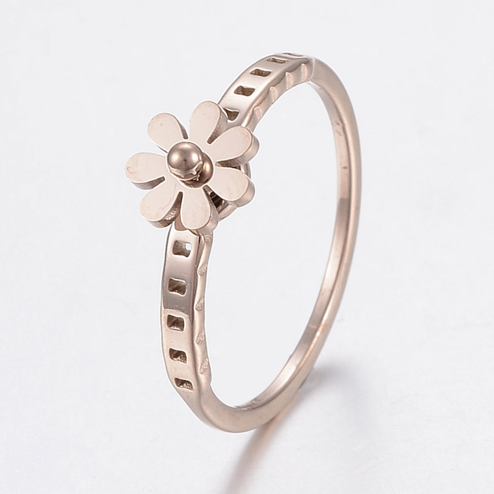 PandaHall_304_Stainless_Steel_Rings_Flower_Rose_Gold_Size_8_18mm_Stainless_Steel