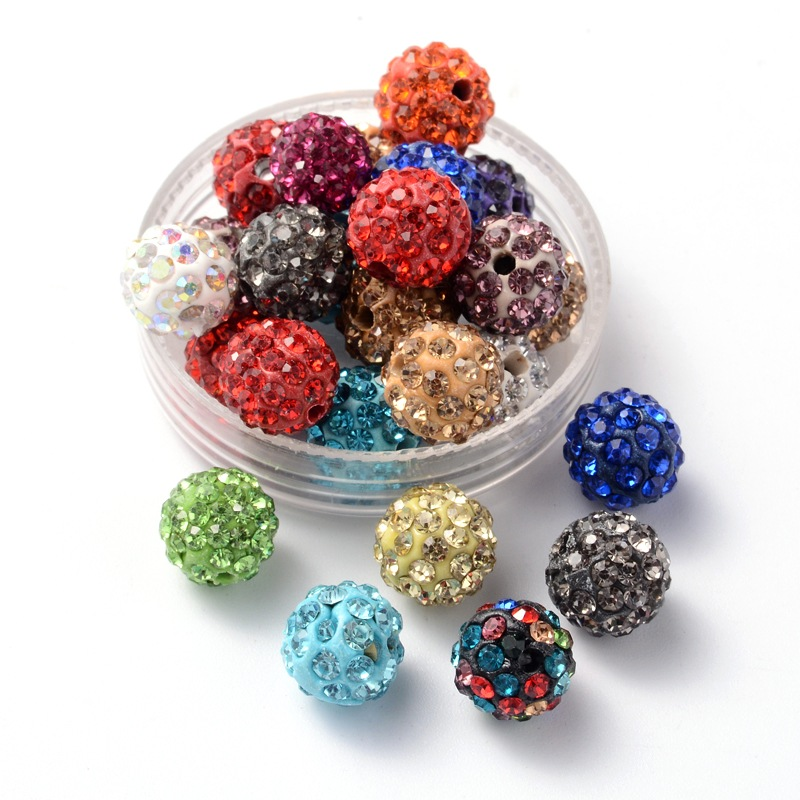 PandaHall_Polymer_Clay_Rhinestone_Beads_Pave_Disco_Ball_Beads_Grade_A_Round_PP15_Mixed_Color_10mm_Hole_18~2mm_Polymer_ClayGlass