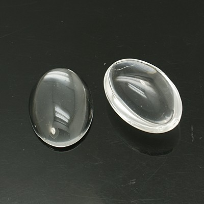 PandaHall_Transparent_Glass_Cabochons_Oval_Clear_40x30mm_8mmRange_7~9mm_thick_Glass_Oval_Clear