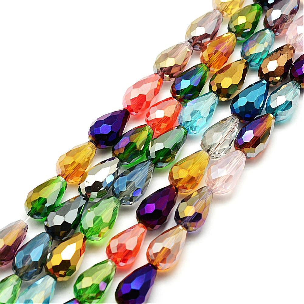 PandaHall_Faceted_Drop_Glass_Beads_Strands_Mixed_Color_15x10mm_Hole_1mm_about_28pcsstrand_16_Drop_Multicolor
