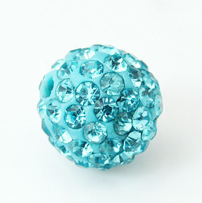 PandaHall Polymer Clay Rhinestone Beads, Pave Disco Ball Beads, Grade A, Hal..
