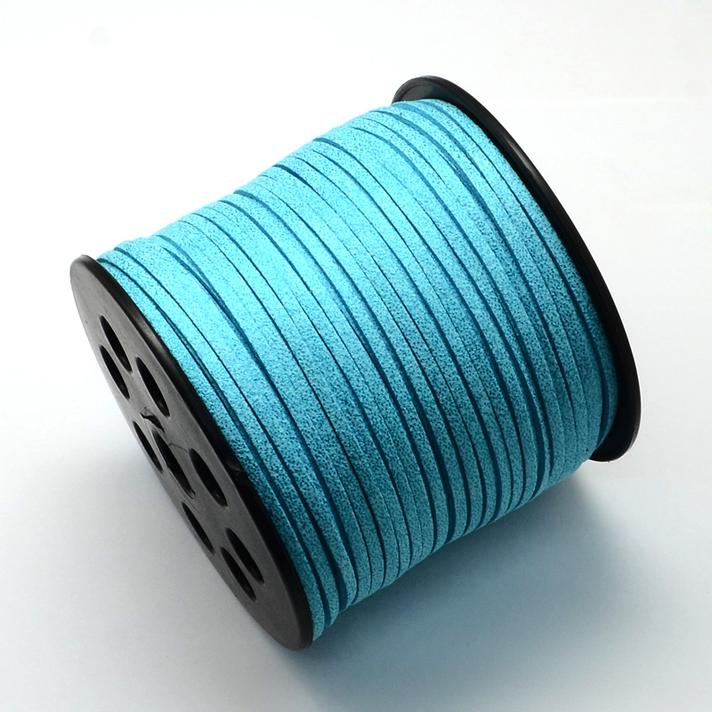 PandaHall_Environmental_Faux_Suede_Cord_Faux_Suede_Laces_with_Glitter_Powder_SkyBlue_27x14mm_about_100yardsroll_Suede_Blue