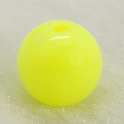 PandaHall Colorful Acrylic Beads, Round, Yellow, Size: about 8mm in diameter..