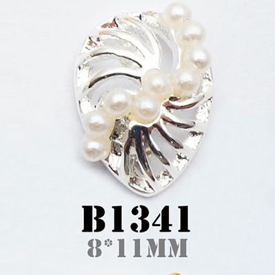 PandaHall_Alloy_Cabochons_Nail_Art_Decoration_Accessories_with_ABS_Plastic_Imitation_Pearl_Drop_Silver_11x8mm_AlloyOther_Material_Drop