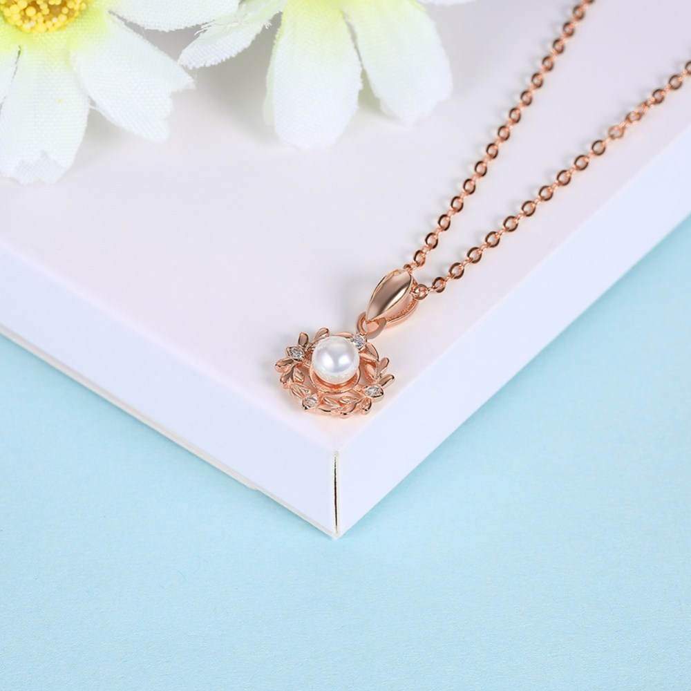 PandaHall_Fashion_Sterling_Silver_Pendant_Necklaces_with_Pearl_Flower_Rose_Gold_157540cm_Sterling_Silver