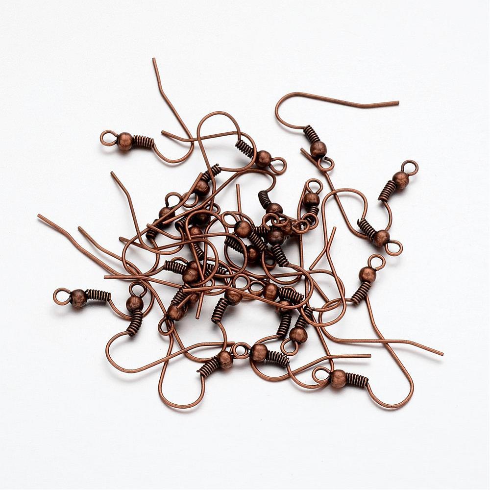 PandaHall_Iron_Earring_Hooks_Cadmium_Free_&_Nickel_Free_&_Lead_Free_Red_Copper_18x08mm_Hole_2mm_Iron
