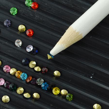 PandaHall_Nail_Art_Rhinestones_Picking_Tools__Pencil_Pen_Pick_Up_Pen_White_175x7mm_Wood_White