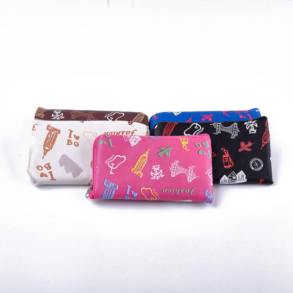 PandaHall PVC Clutch Bags, Change Purse, Star Pattern, Mixed Color, 153~155x87~90x15mm Plastic Multicolor (ABAG-S005-03B 1763046) photo