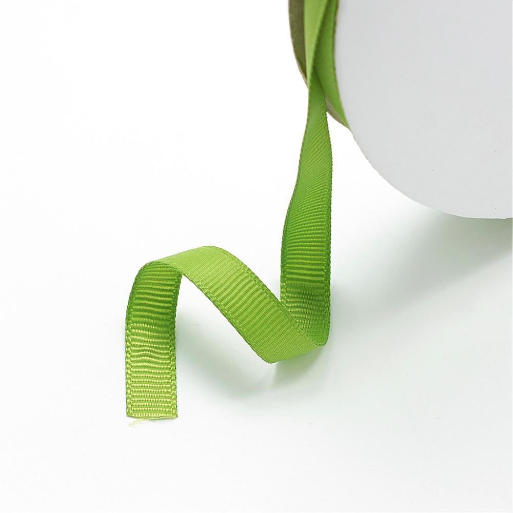PandaHall_Grosgrain_Ribbon_OliveDrab_125mm_100yardsroll9144mroll_Polyester_Green