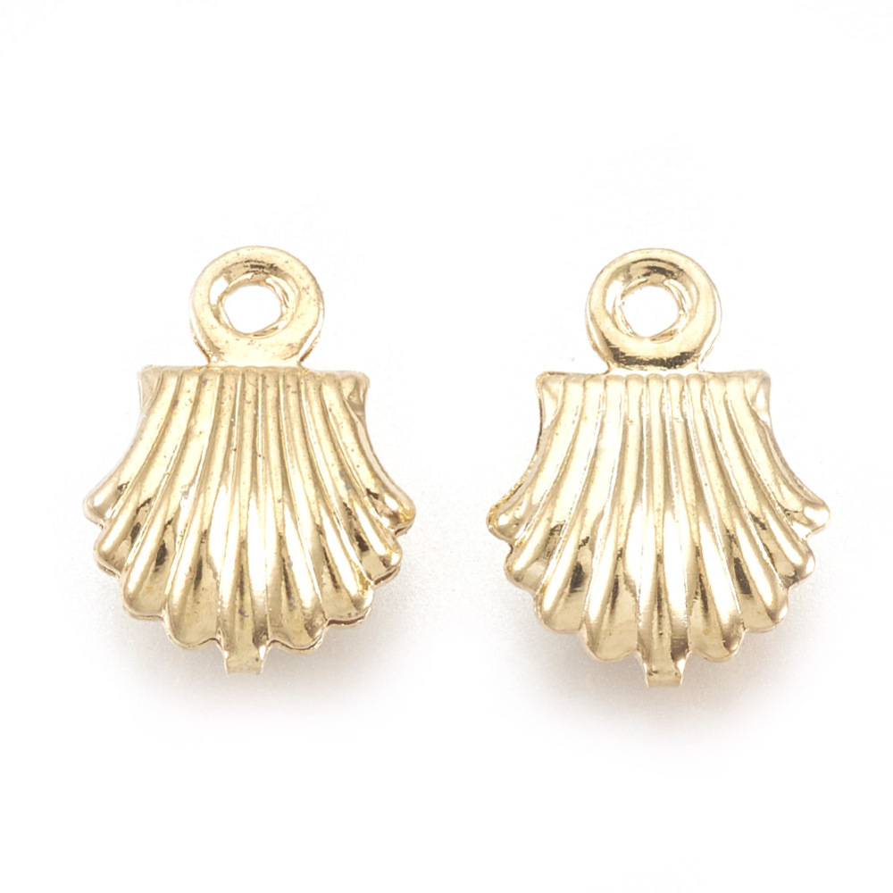 PandaHall_Brass_Charms_Real_18K_Gold_Plated_Shell_105x75x3mm_Hole_1mm_Brass_Shell