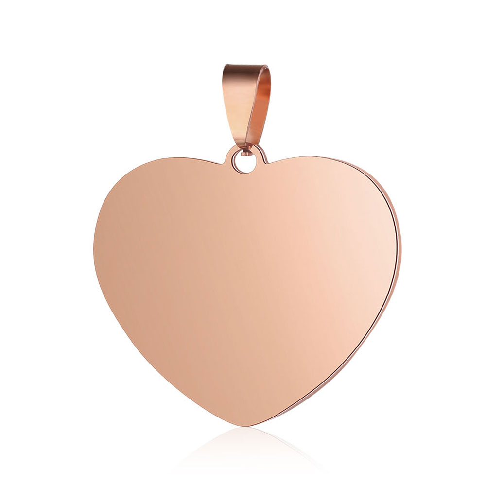 PandaHall_201_Stainless_Steel_Pendants_Heart_Rose_Gold_385x35x2mm_Hole_4x7mm_Stainless_Steel_Heart