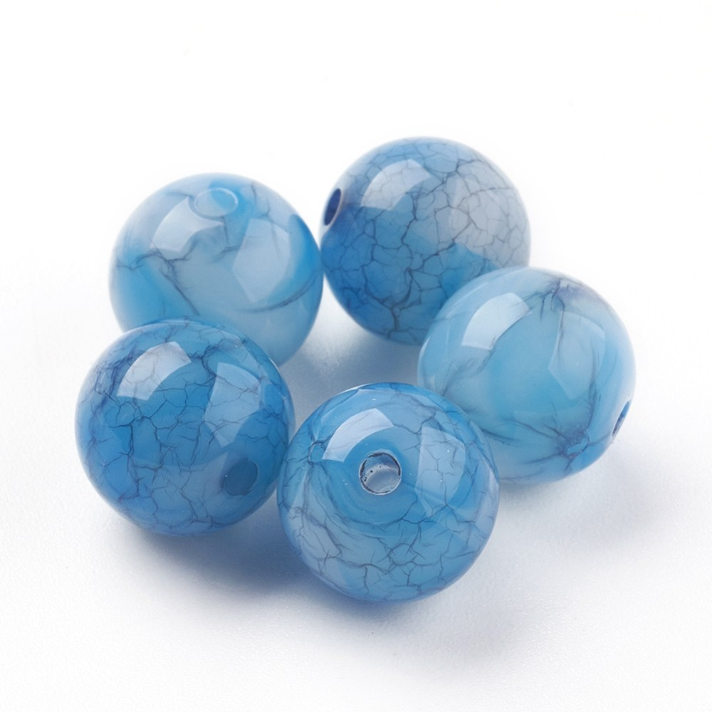 PandaHall_Crackle_Acrylic_Beads_Imitation_Jade_Beads_Round_DodgerBlue_7~8mm_Hole_18mm_about_1900pcs500g_Acrylic_Round_Blue
