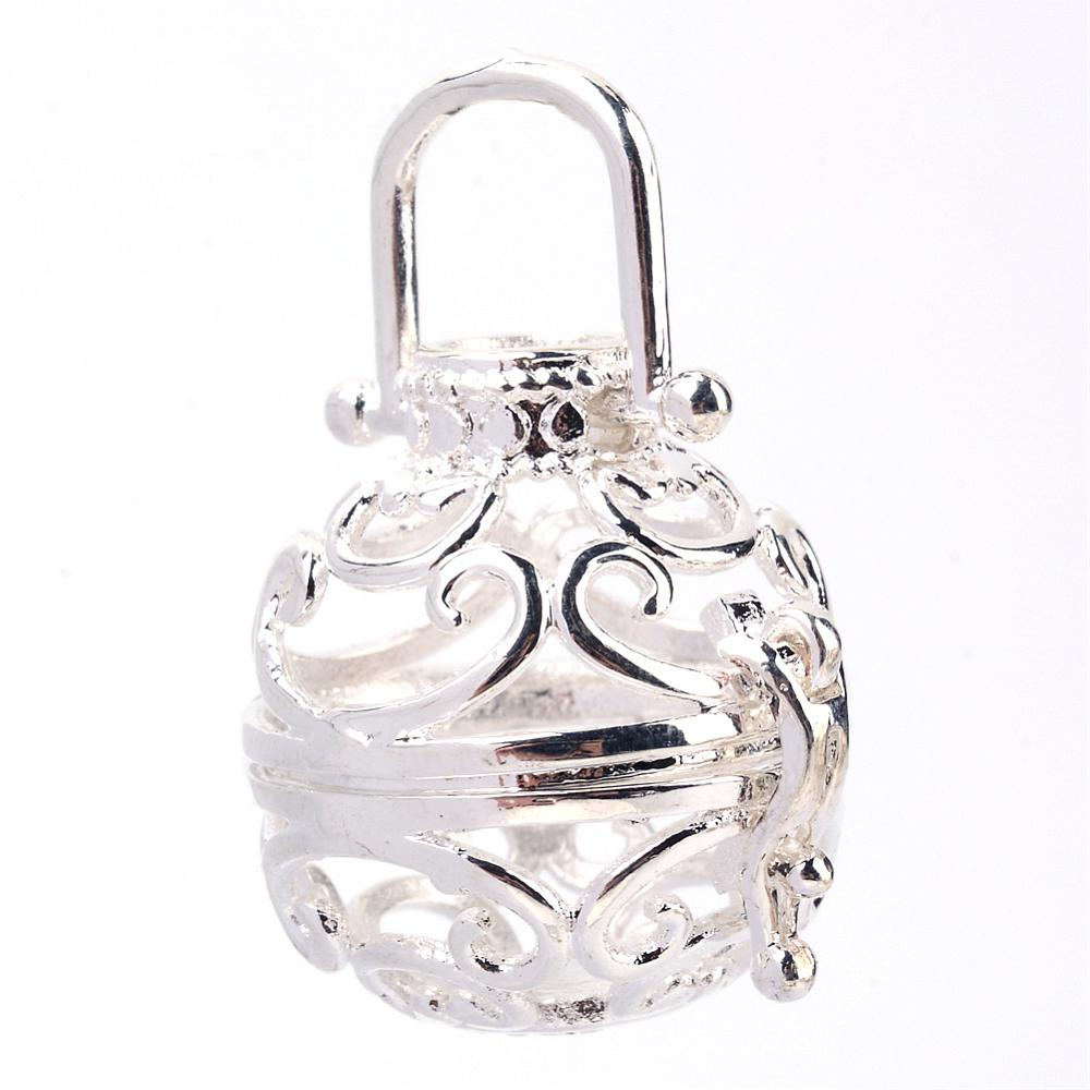 PandaHall_Rack_Plating_Brass_Cage_Pendants_For_Chime_Ball_Pendant_Necklaces_Making_Hollow_Round_Silver_25x26x22mm_Hole_8x95mm_inner