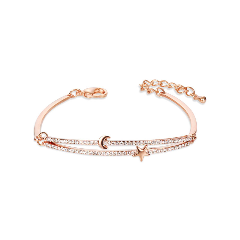 PandaHall SHEGRACE® Simple Fashion Rose Gold Plated Brass Link Bracelet, ..