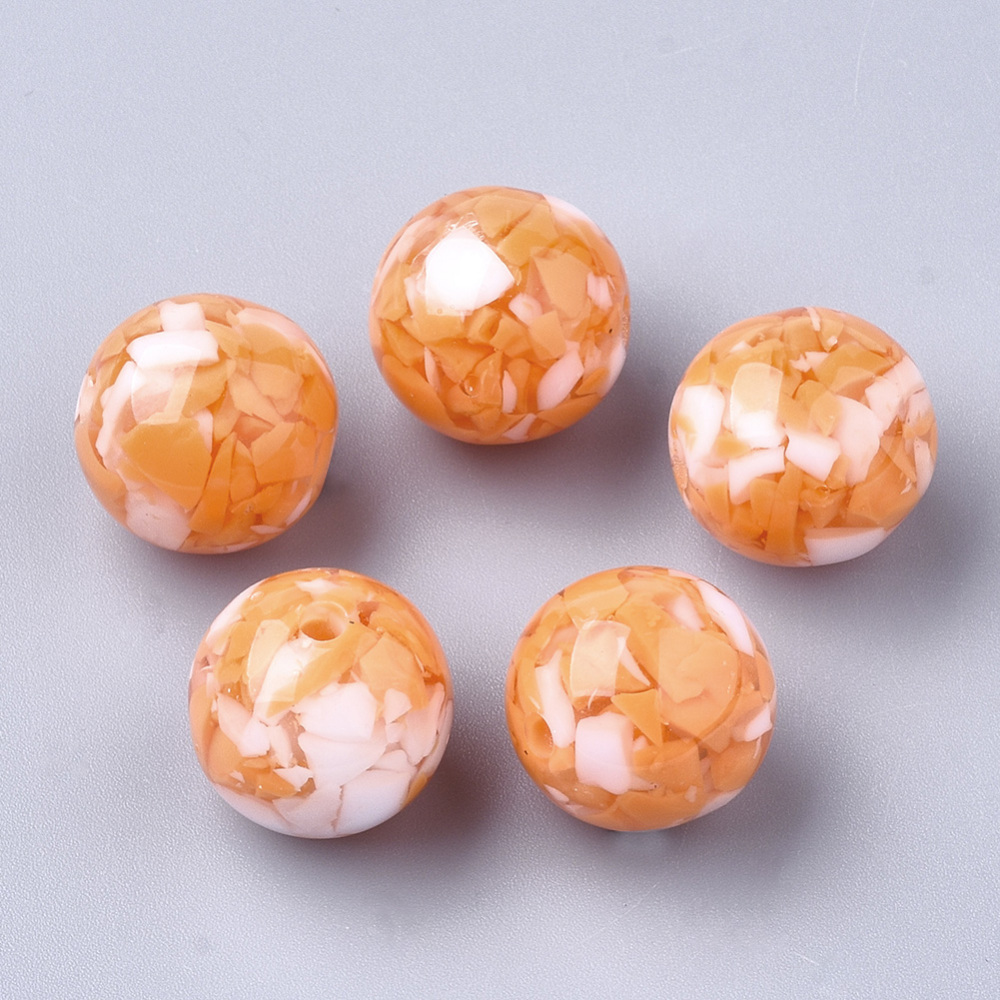 PandaHall_Resin_Beads_Imitation_Gemstone_Chips_Style_Round_DarkOrange_22mm_Hole_25mm_Resin_Round_Orange
