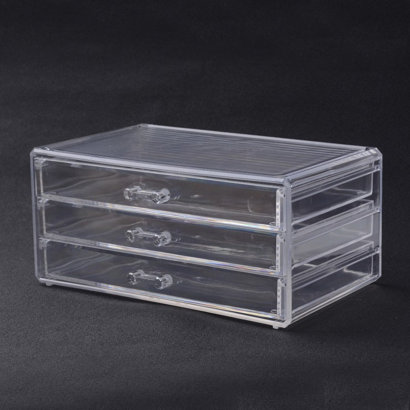 PandaHall_Three_Layers_Rectangle_Shaped_Acrylic_Bead_Storage_Containers_Clear_23x15x109cm_Plastic_Rectangle_Clear
