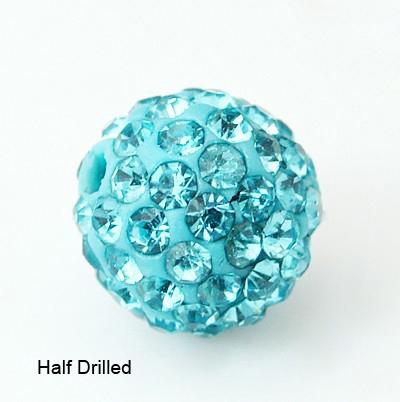 PandaHall Polymer Clay Rhinestone Beads, Pave Disco Ball Beads, Grade A, Rou..