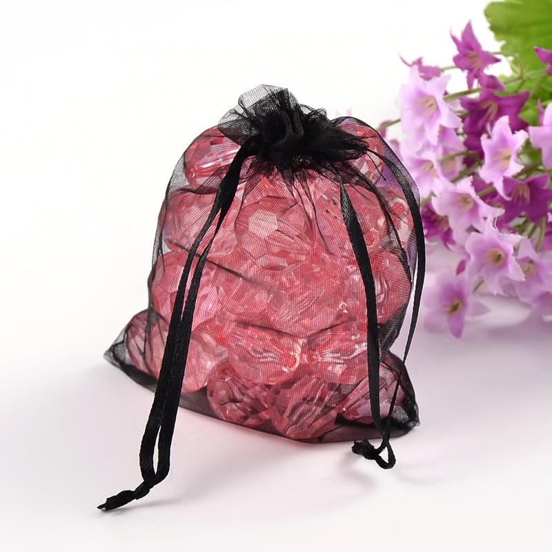 PandaHall_Organza_Gift_Bags_with_Drawstring_Rectangle_Black_12x10cm_Organza_Rectangle_Black