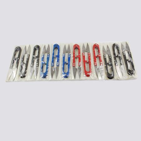 PandaHall_Sharp_Steel_Scissors_Mixed_Color_106x22x10mm_12pcsdozen_Stainless_Steel_Multicolor