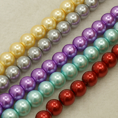 PandaHall_Glass_Pearl_Beads_Strands_Round_Mixed_Color_4mm_Hole_05mm_about_215pcsstrand_32strand_Glass_Round_Multicolor