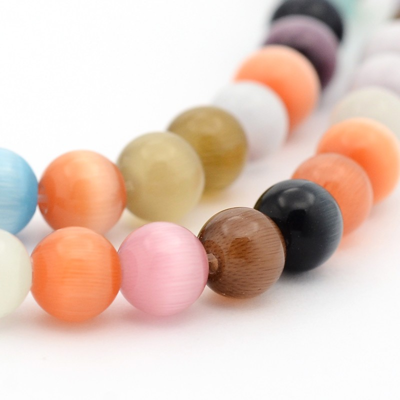 PandaHall_Cat_Eye_Beads_Round_Mixed_Color_6mm_Hole_1mm_about_66pcsstrand_145strand_Glass_Round_Multicolor