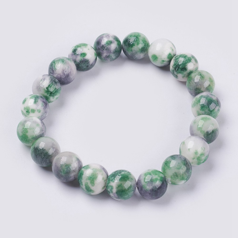 PandaHall_Natural_Jade_Beaded_Stretch_Bracelet_Dyed_Round_SeaGreen_25cm_beads_12mm_Jade_Green