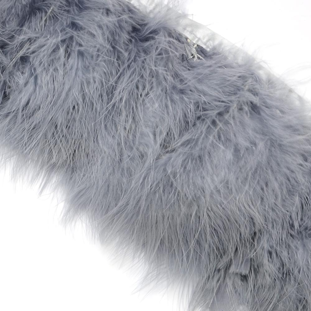PandaHall_Fashion_Feather_Cloth_Strand_Costume_Accessories_Gainsboro_120~190x28~56mm_about_2mbag_Feather_Feather_Gray