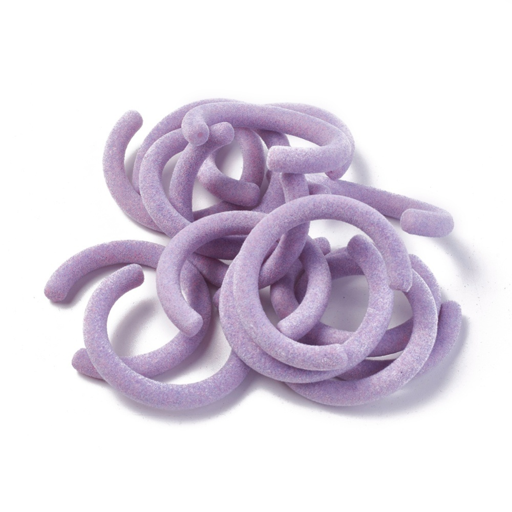 PandaHall_High_Quality_Flocky_Acrylic_Beads_Letter_C_Shape_Lilac_475x445x66mm_Hole_15mm_Inner_Diameter_35mm_Acrylic_Others_Purple