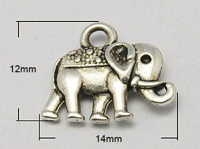 PandaHall_Vintage_Elephant_Charms_Tibetan_Style_Charms_Lead_Free_and_Nickel_Free_Antique_Silver_12x14x25mm_Hole_1mm_Alloy_Elephant
