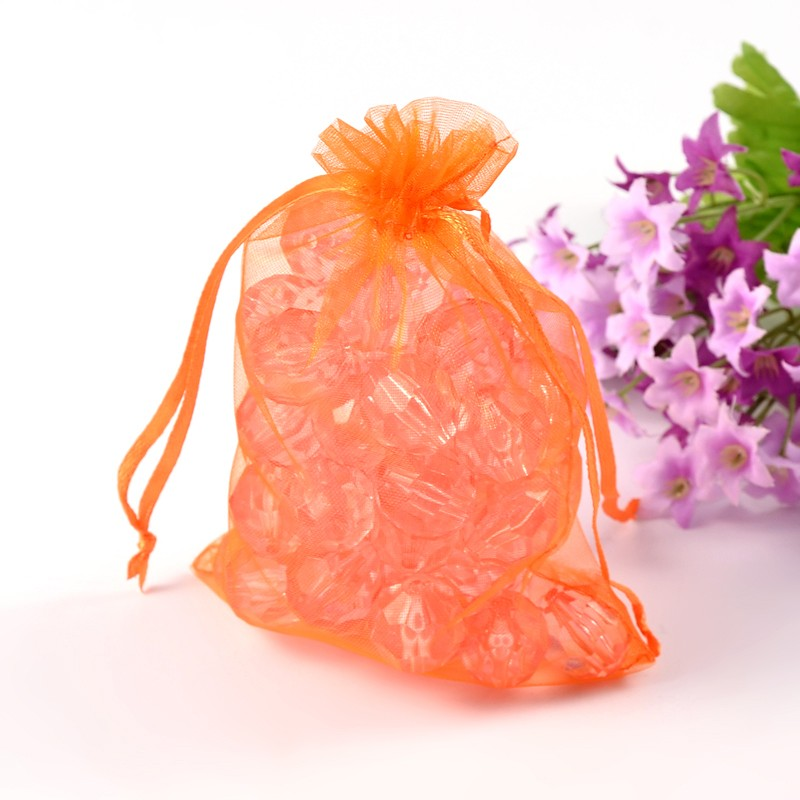 PandaHall_Organza_Bags_Mothers_Day_Bags_Rectangle_OrangeRed_about_10cm_wide_15cm_long_Organza_Rectangle_Red