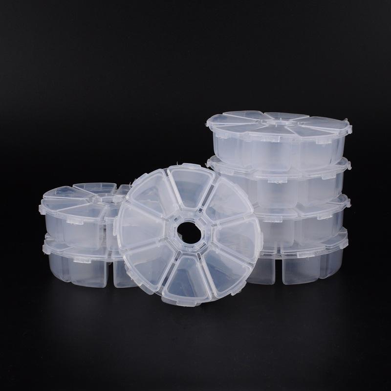 PandaHall_Plastic_Bead_Storage_Containers_White_105x105x28mm_Plastic_Round_White