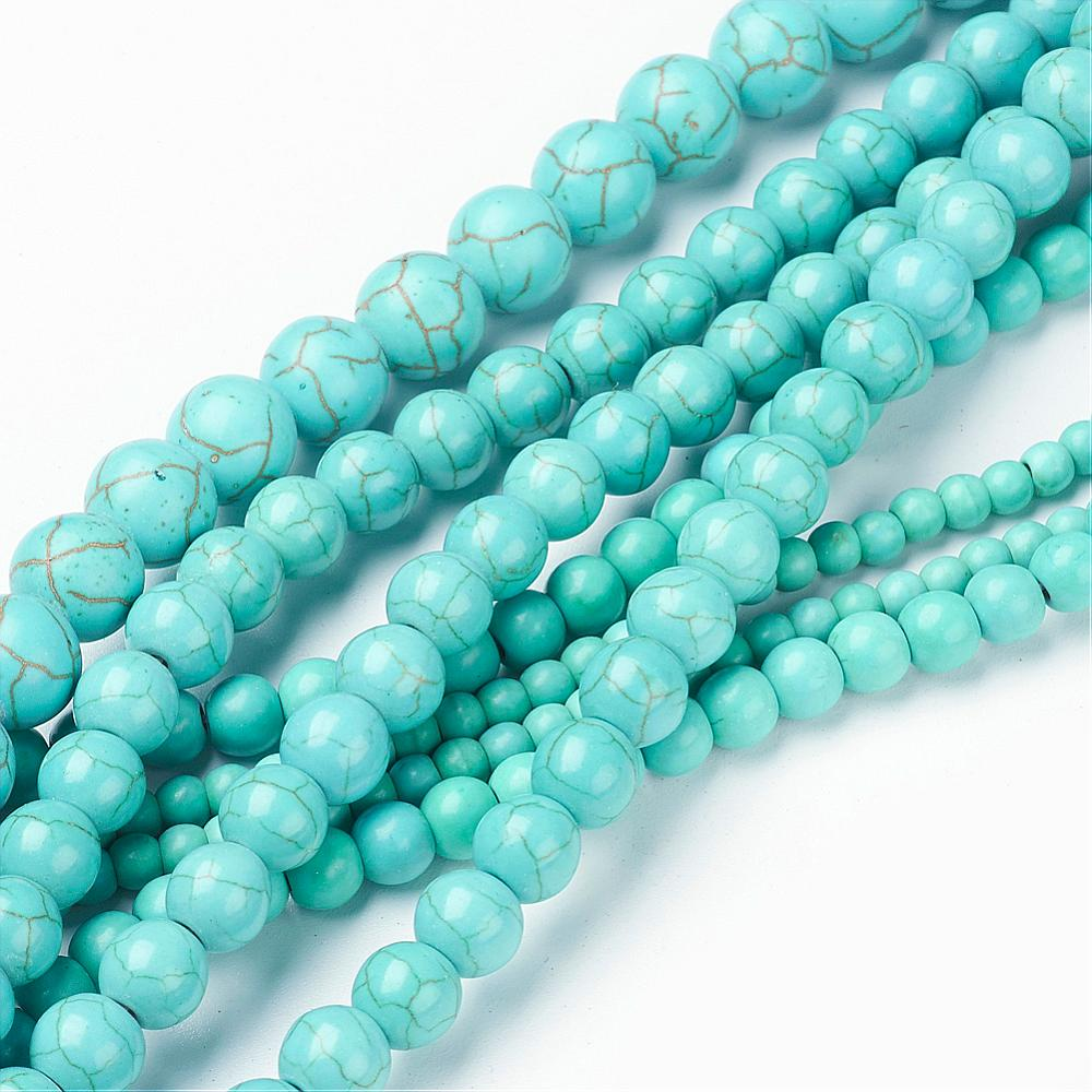 PandaHall_Mixed_Size_Synthetic_Turquoise_Round_Bead_Strands_4~10mm_Hole_1~15mmabout_40~90pcsstrand_16_Synthetic_Turquoise_Round