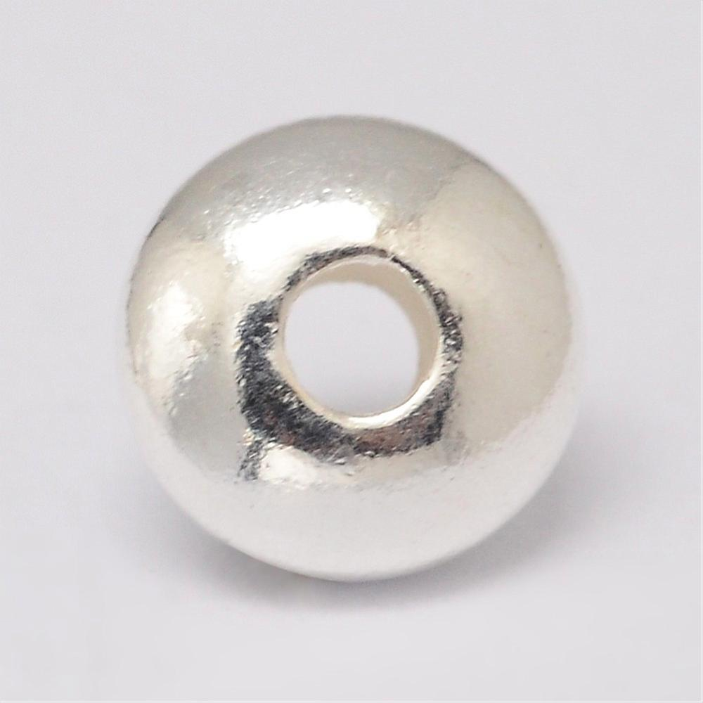 PandaHall_925_Sterling_Silver_Spacer_Beads_Disc_Silver_7x35mm_Hole_2mm_Sterling_Silver_Disc_Silver