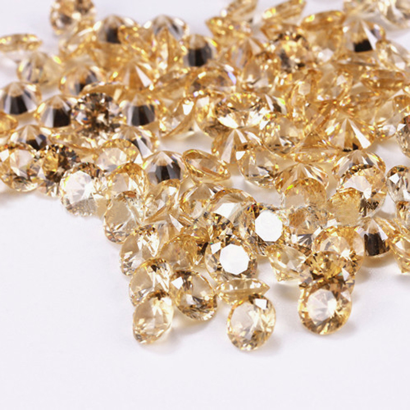 PandaHall Diamond Shaped Cubic Zirconia Pointed Back Cabochons, Faceted, SandyBrown, 5mm Cubic Zirconia Diamond Brown