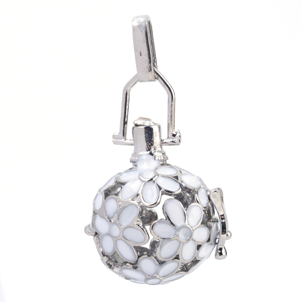 PandaHall Rack Plating Brass Cage Pendants, For Chime Ball Pendant Necklaces..