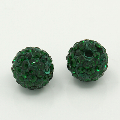 PandaHall Polymer Clay Rhinestone Beads, Grade A, Round Pave Disco Ball Bead..