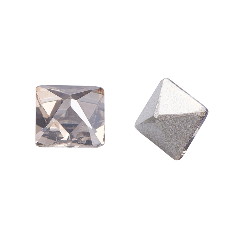 PandaHall_K9_Glass_Rhinestone_Cabochons_Pointed_Back_&_Back_Plated_Faceted_Square_Satin_6x6x6mm_Glass_Rhinestone_Square