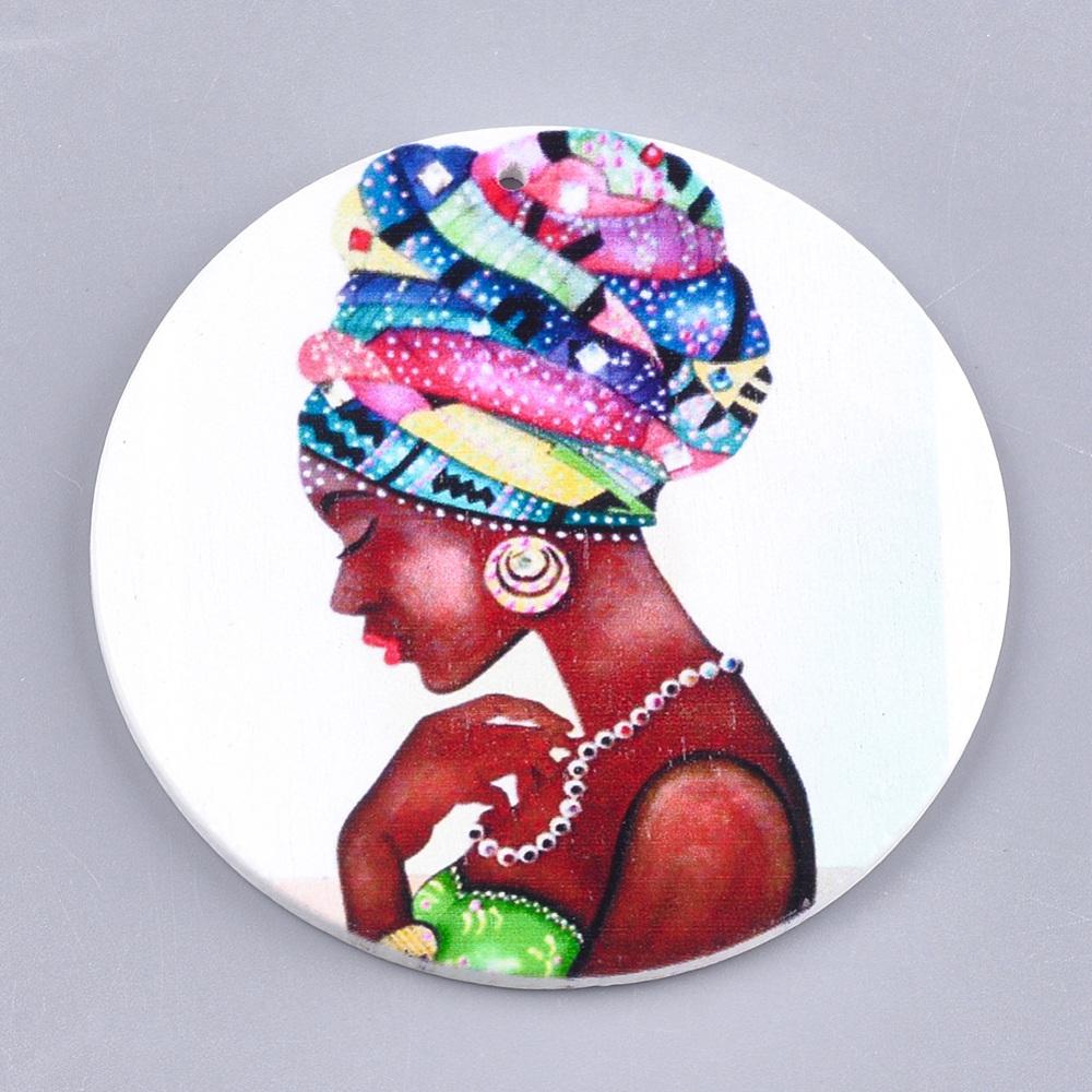 PandaHall_Printed_Wooden_Big_Pendants_Dyed_Flat_Round_with_Fashion_Lady_Colorful_60x25mm_Hole_15mm_Wood_Flat_Round